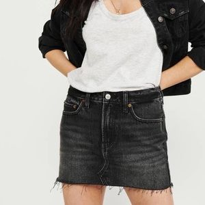 Abercrombie & Fitch Black Denim Miniskirt